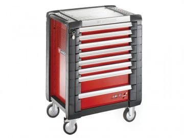Jet.8M3 Roller Cabinet 8 Drawer Red